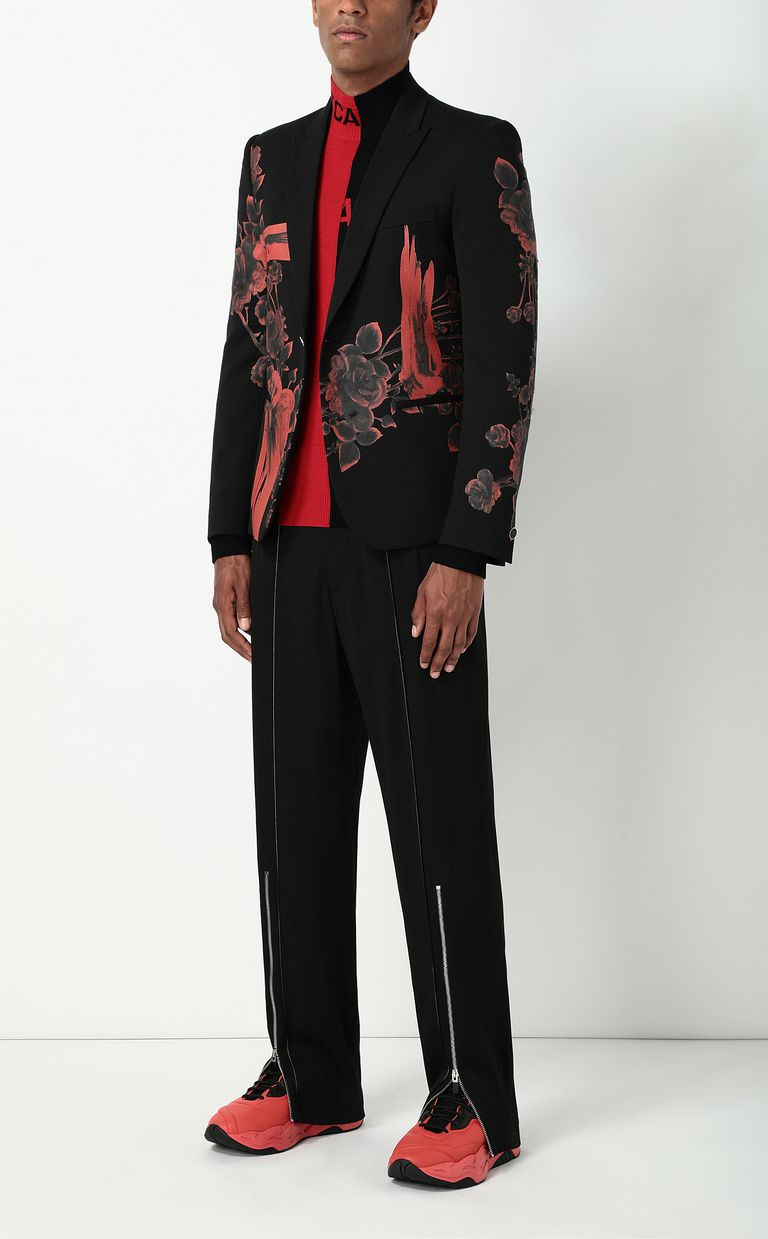 JUST CAVALLI Tailored trousers with zip detail Casual pants Man d