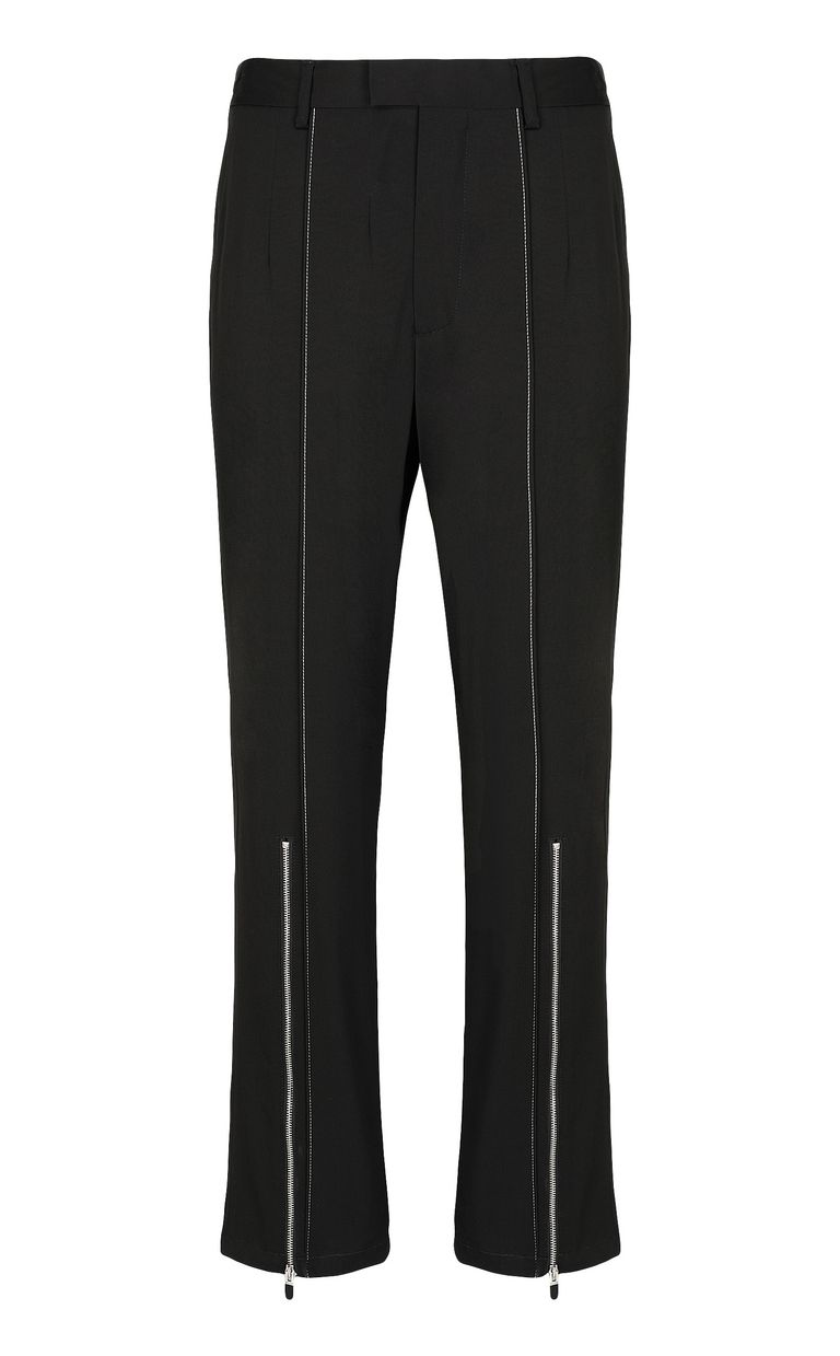 JUST CAVALLI Tailored trousers with zip detail Casual pants Man f