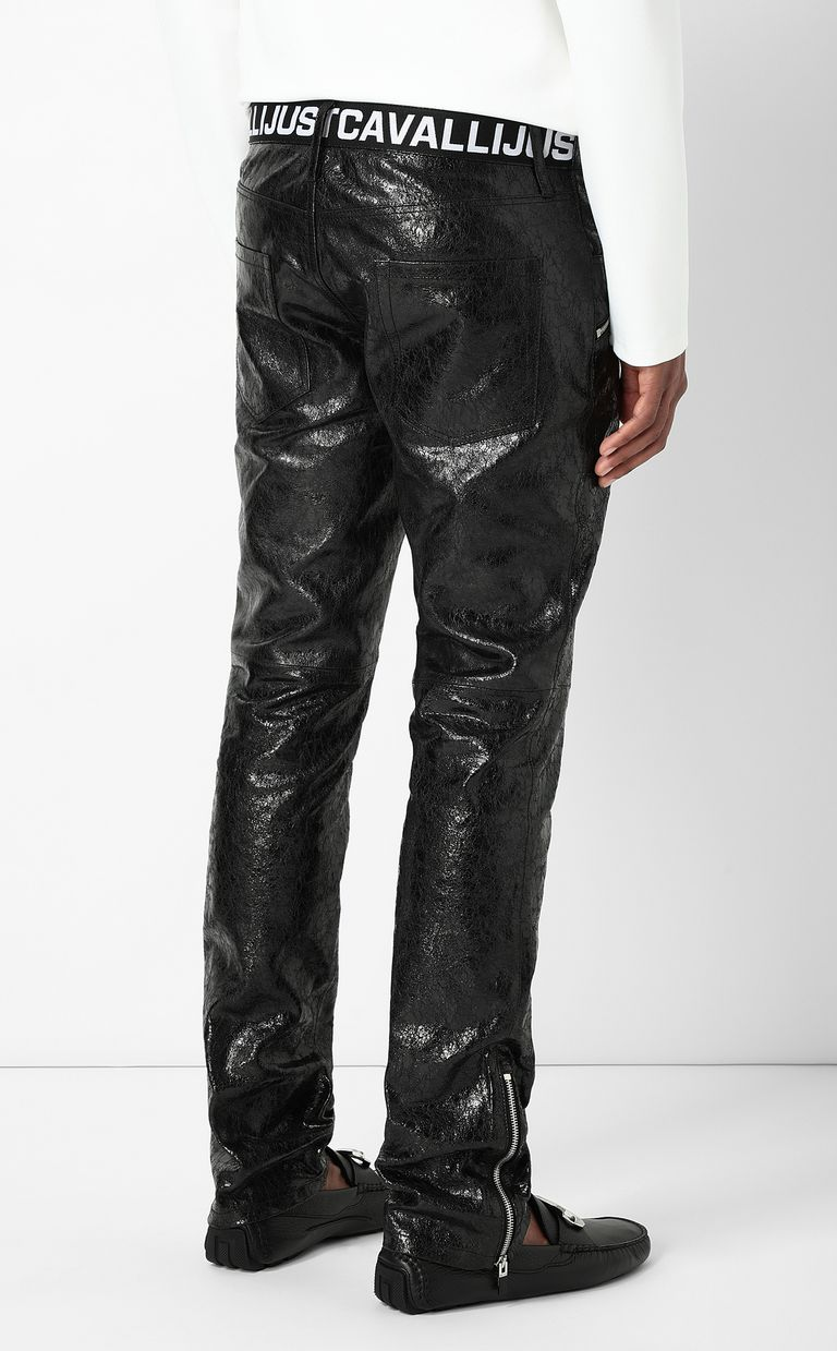 JUST CAVALLI Leather trousers Leather pants Man a