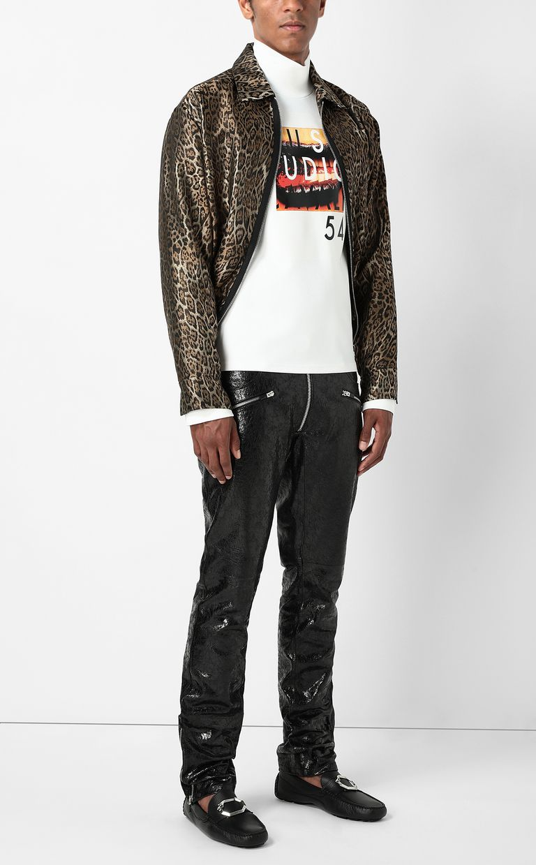 JUST CAVALLI Leather trousers Leather pants Man d