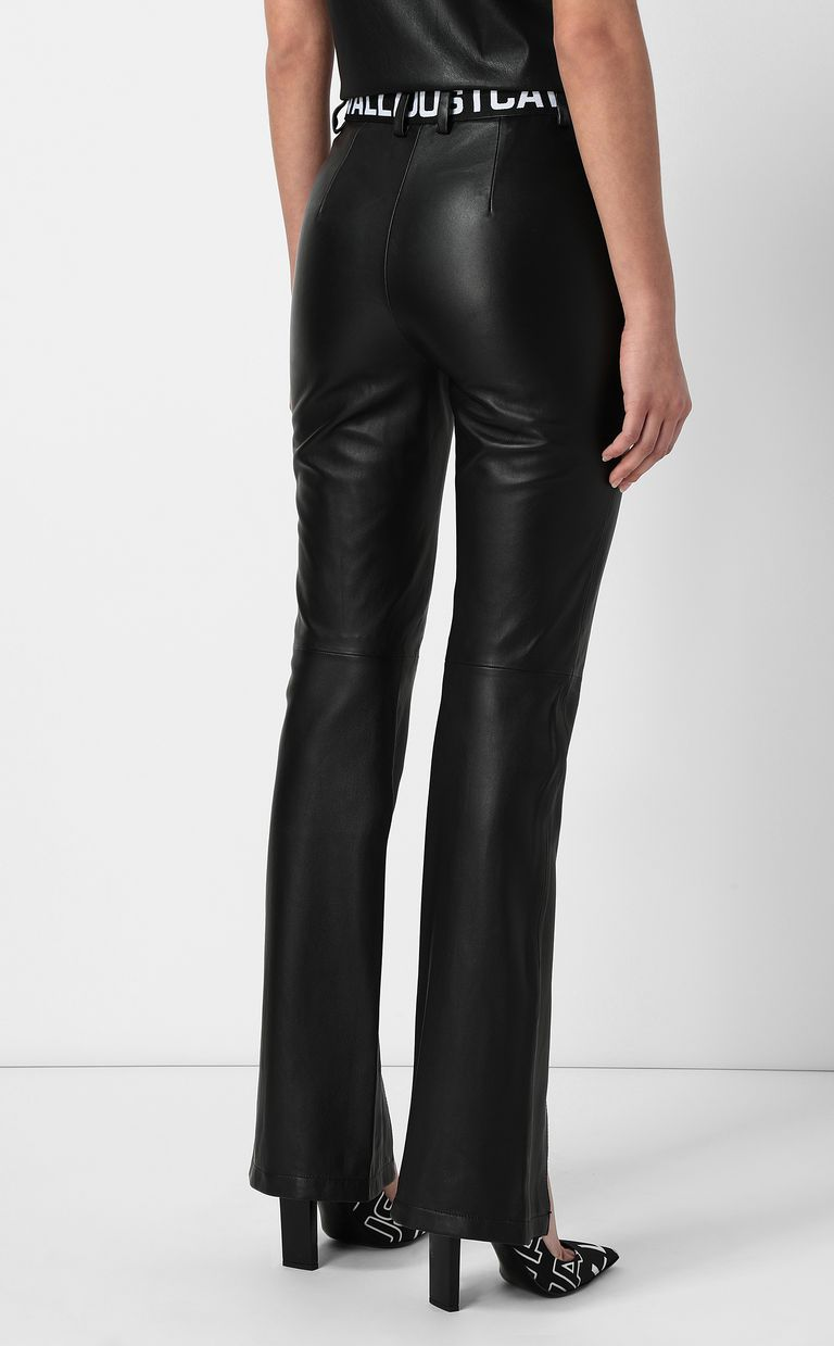 JUST CAVALLI Leather trousers Leather pants Woman a
