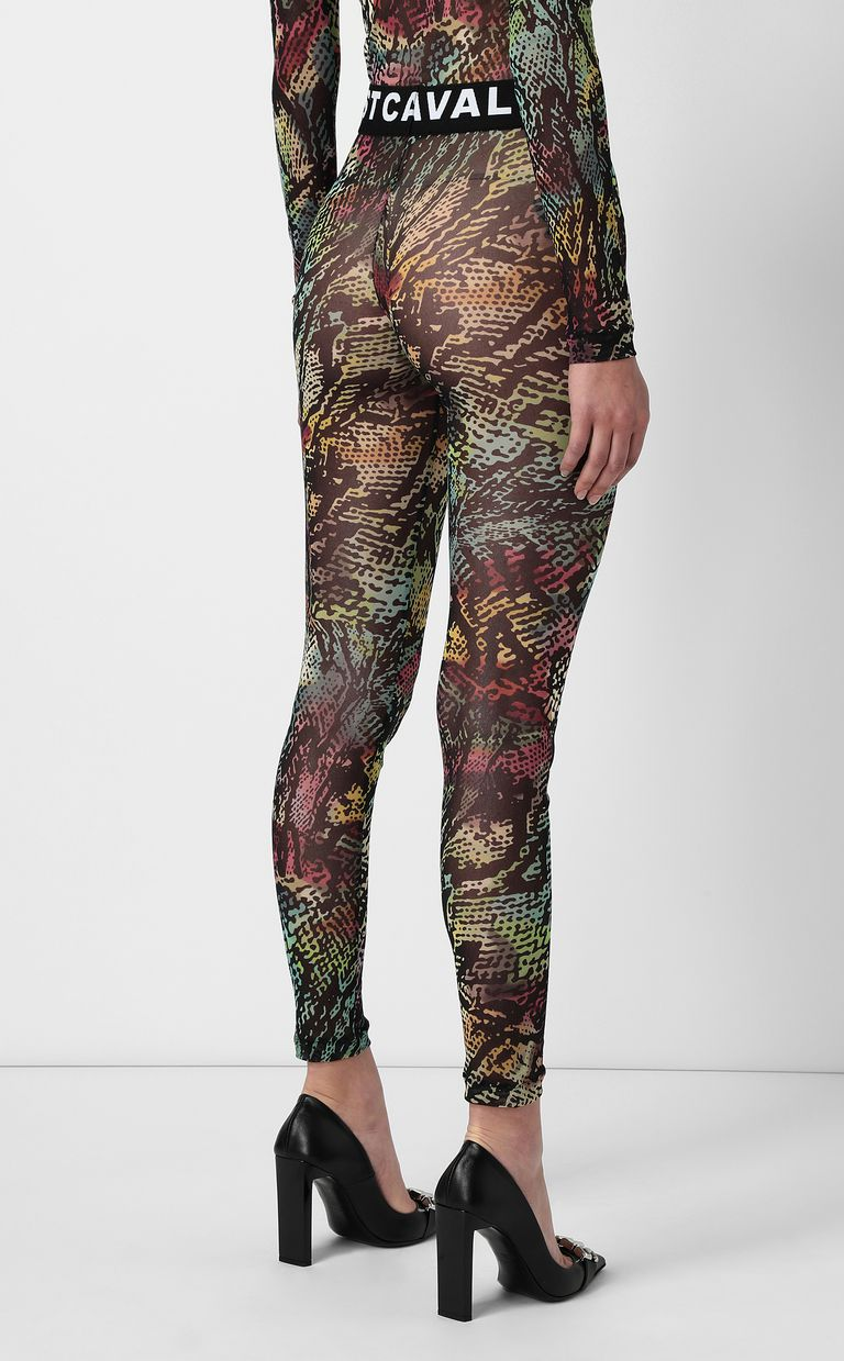 JUST CAVALLI Chameleon-print leggings Leggings Woman a