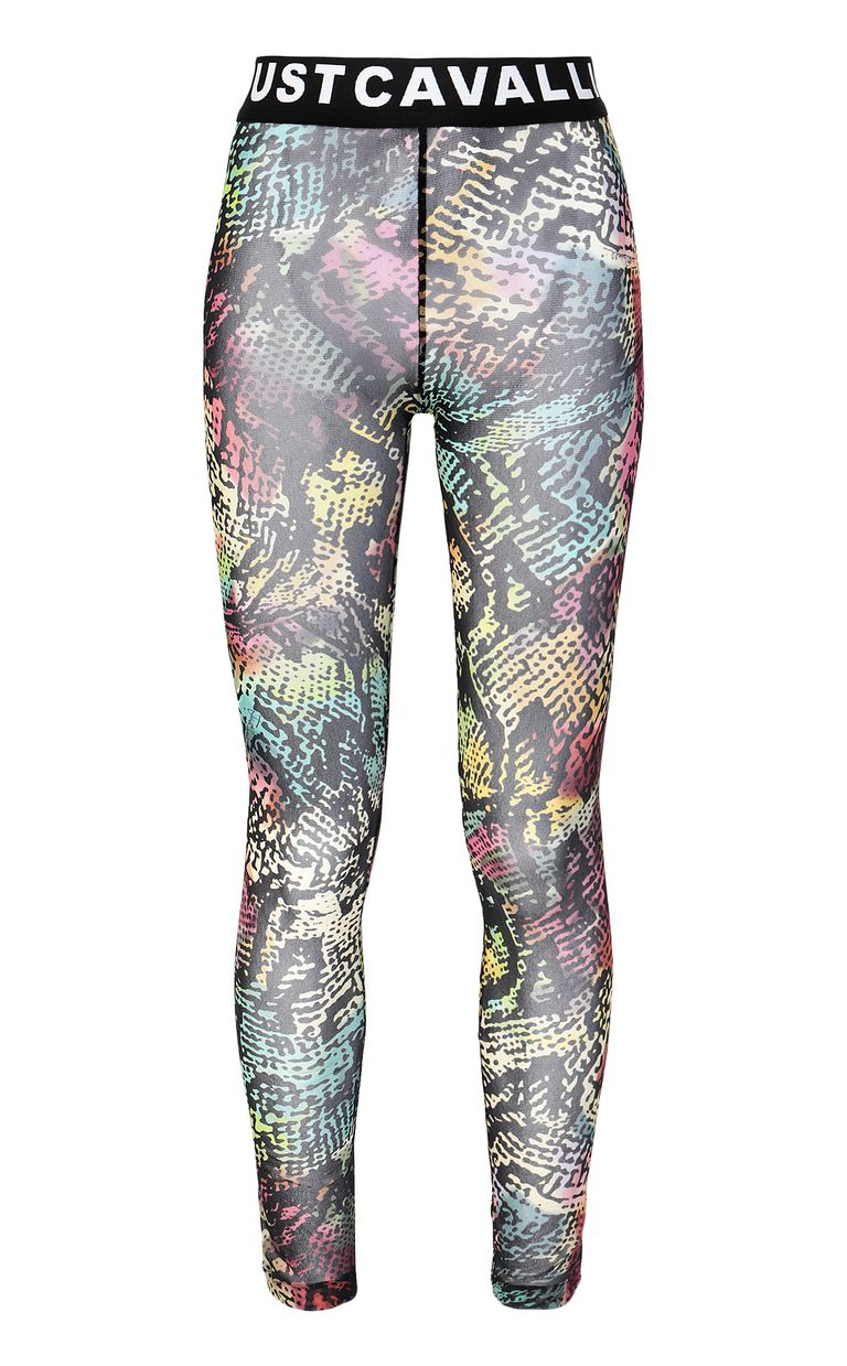 JUST CAVALLI Chameleon-print leggings Leggings Woman f