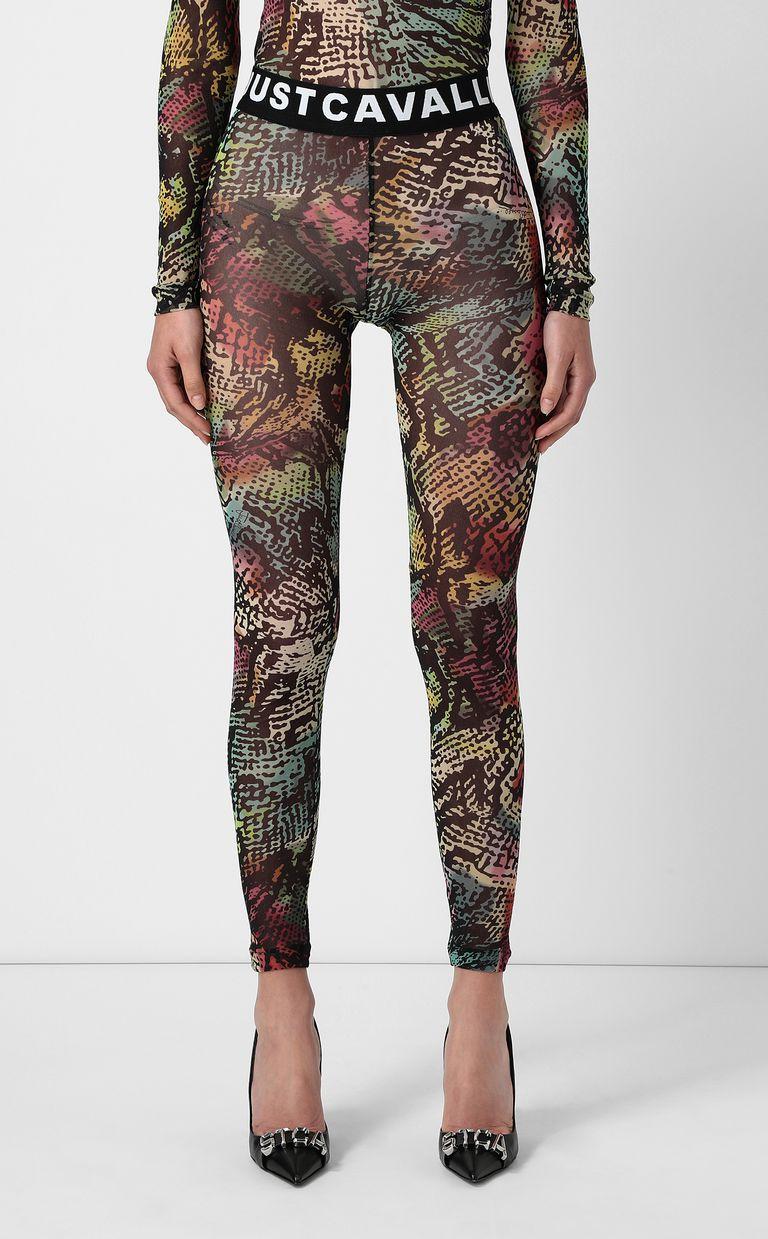 JUST CAVALLI Chameleon-print leggings Leggings Woman r