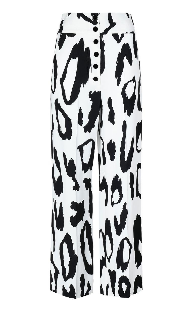 JUST CAVALLI Leopard-print flared trousers Casual pants Woman f