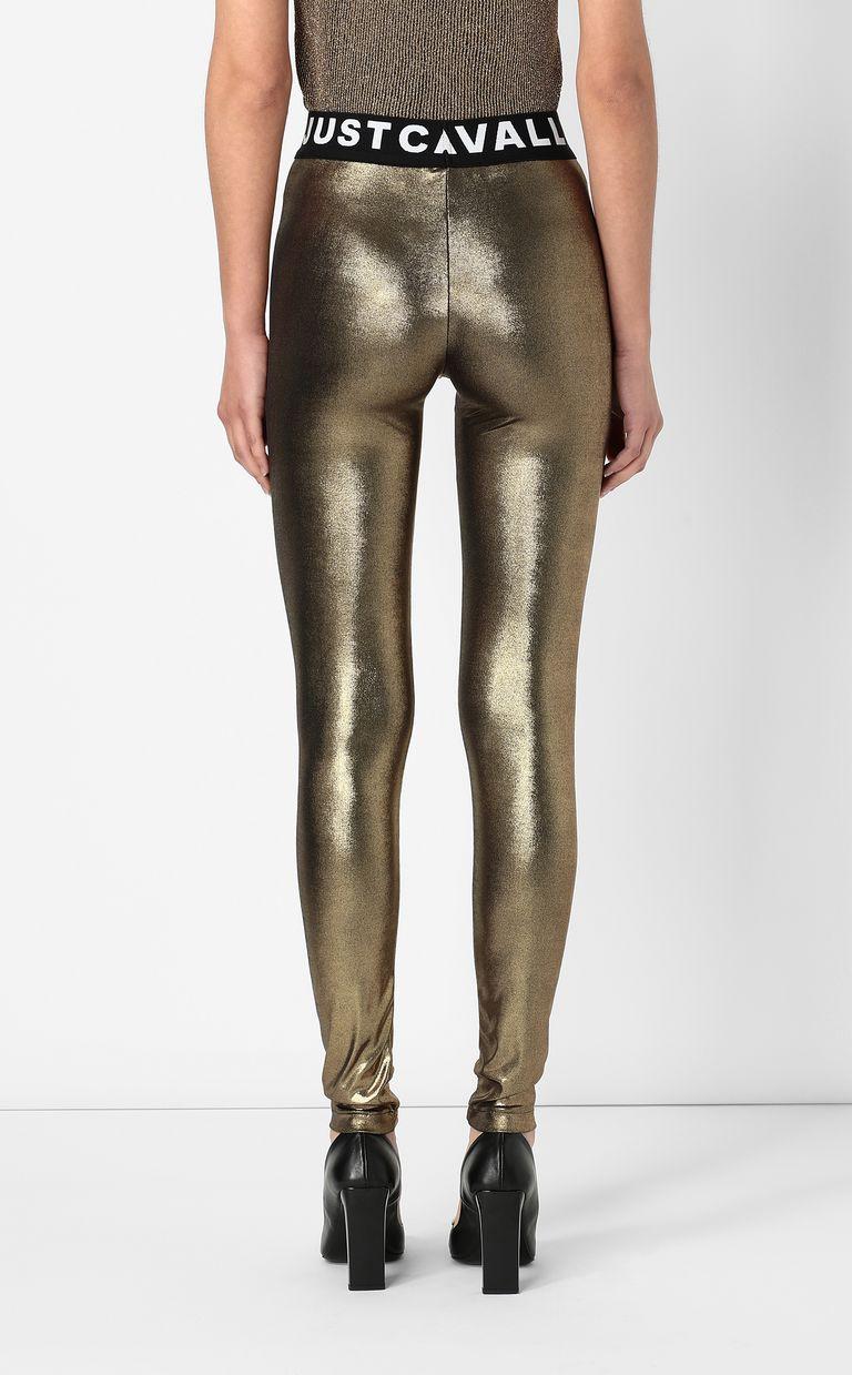 JUST CAVALLI Metallic gold leggings Leggings Woman a