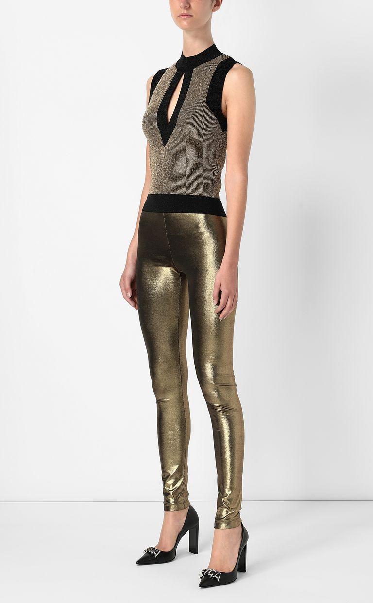 JUST CAVALLI Metallic gold leggings Leggings Woman d