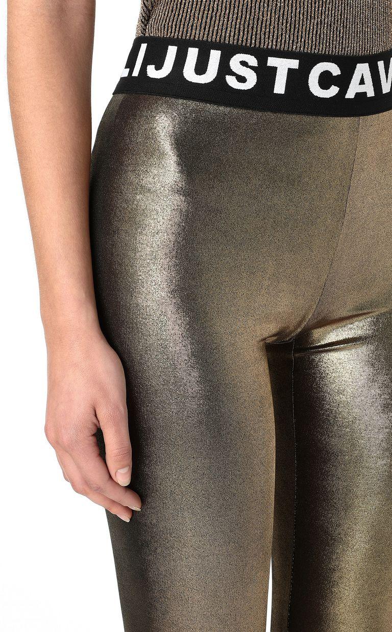 JUST CAVALLI Metallic gold leggings Leggings Woman e