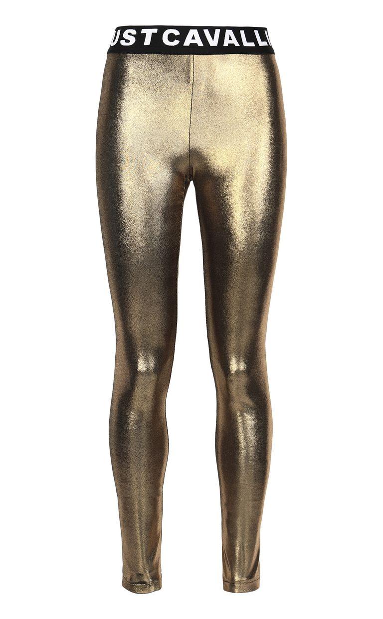 JUST CAVALLI Metallic gold leggings Leggings Woman f