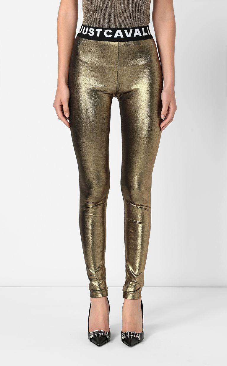 JUST CAVALLI Metallic gold leggings Leggings Woman r