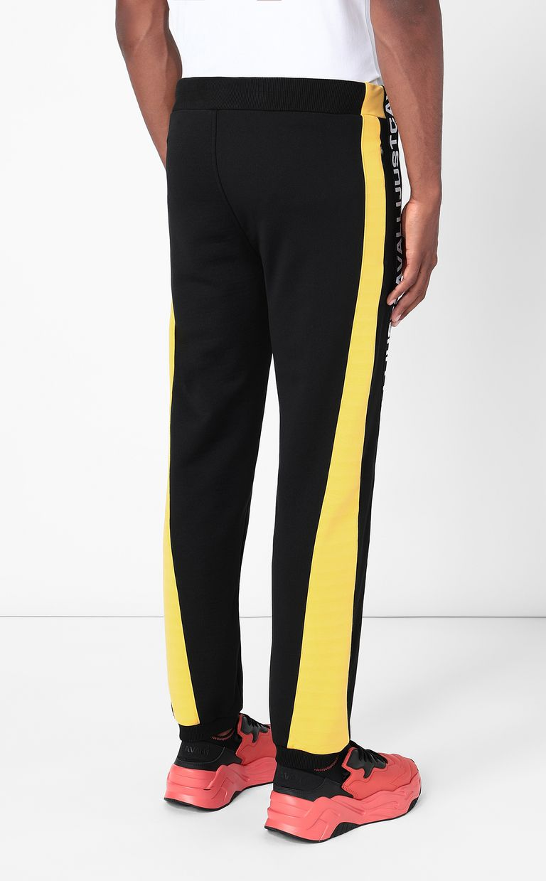 JUST CAVALLI Sporty trousers with logo tape Casual pants Man a