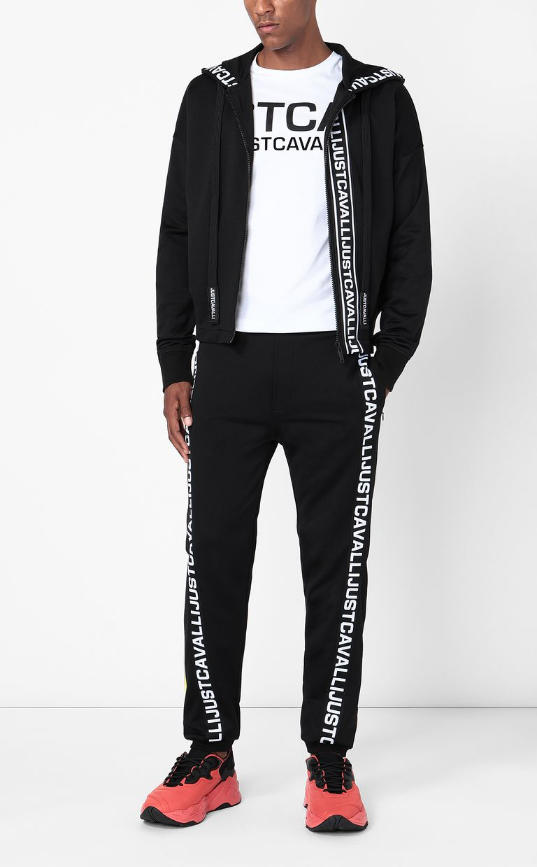 JUST CAVALLI Sporty trousers with logo tape Casual pants Man d