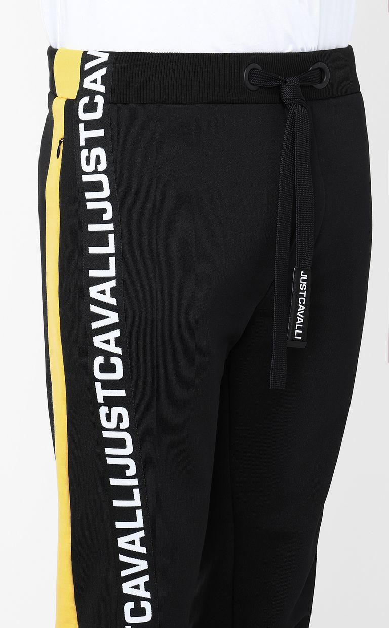 JUST CAVALLI Sporty trousers with logo tape Casual pants Man e