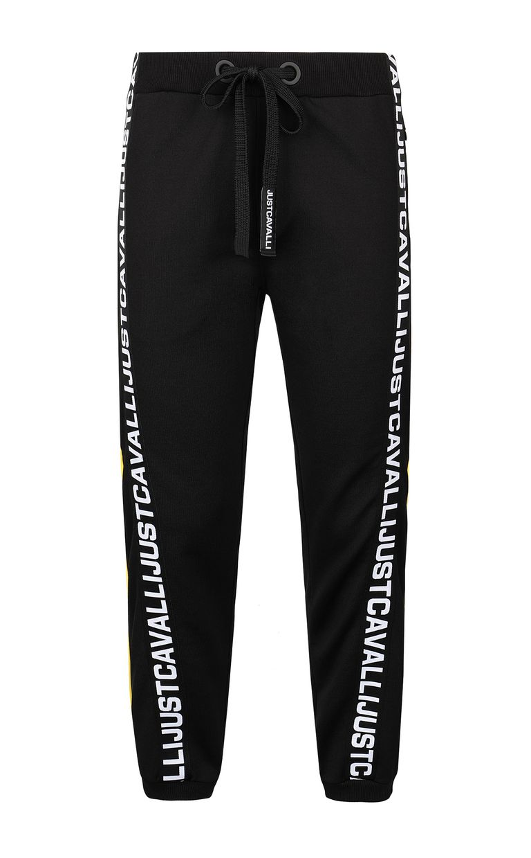 JUST CAVALLI Sporty trousers with logo tape Casual pants Man f