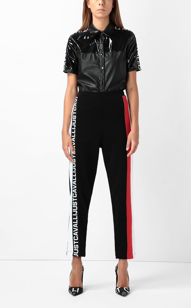 JUST CAVALLI Trousers with logo tape Casual pants Woman d