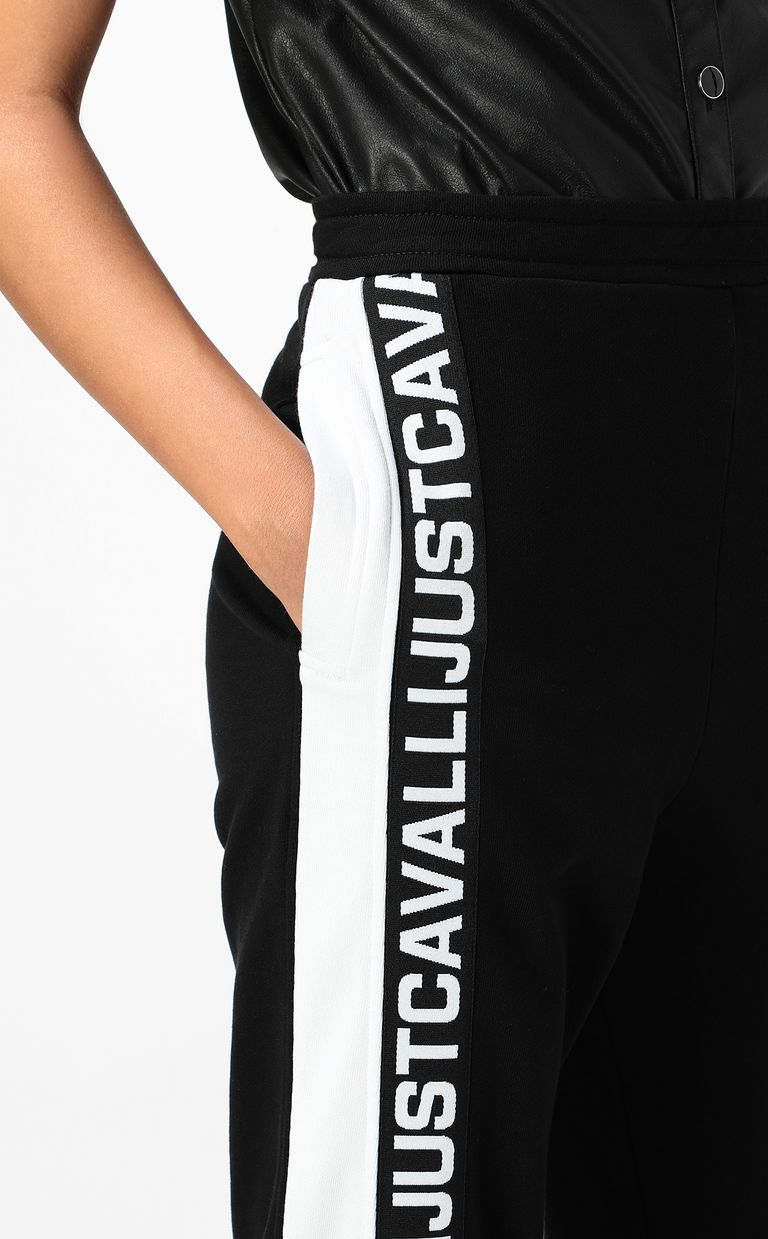 JUST CAVALLI Trousers with logo tape Casual pants Woman e