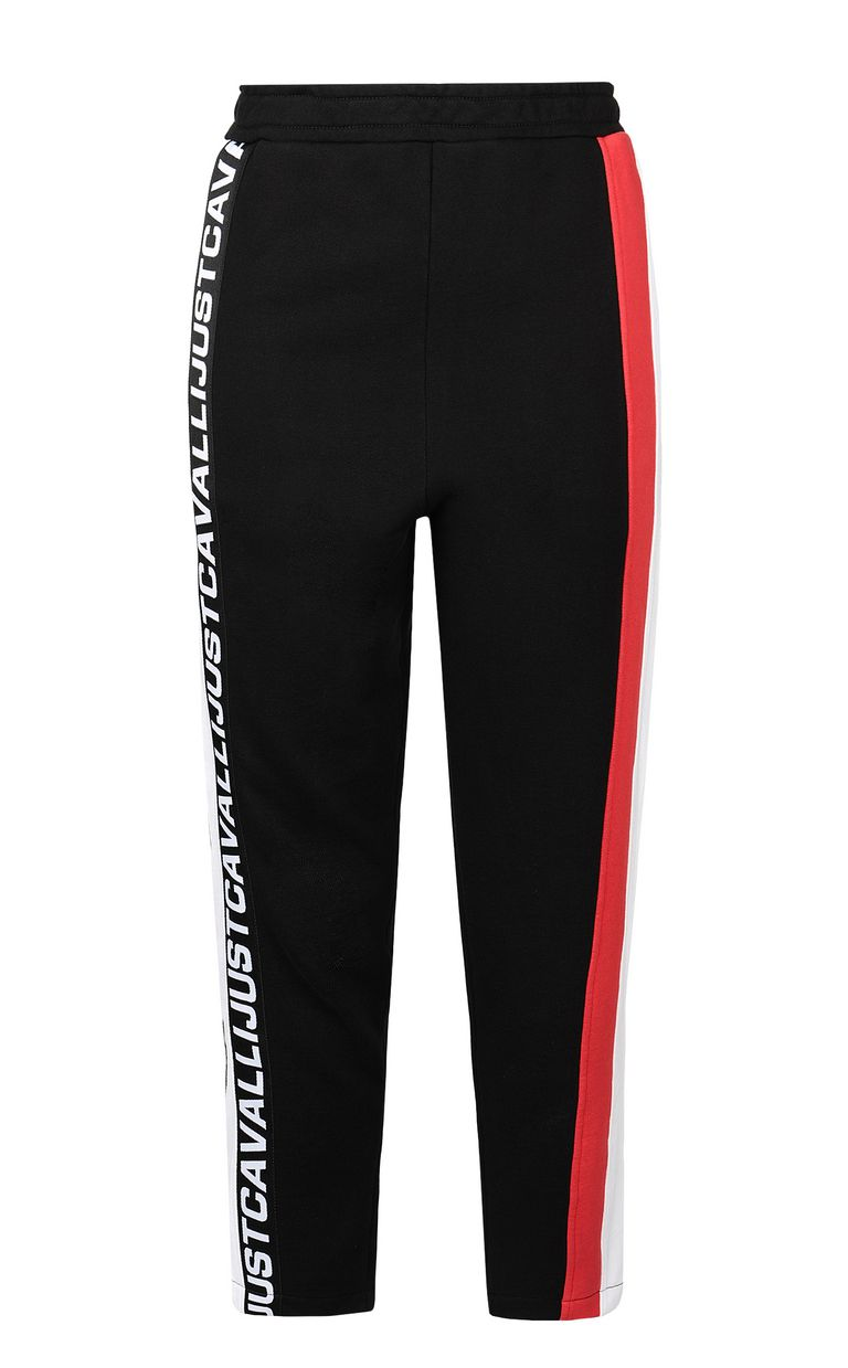 JUST CAVALLI Trousers with logo tape Casual pants Woman f