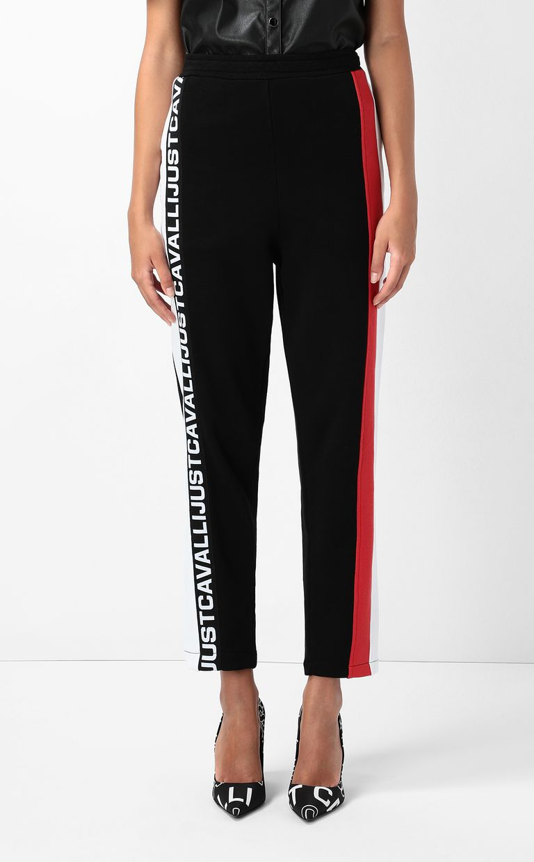 JUST CAVALLI Trousers with logo tape Casual pants Woman r