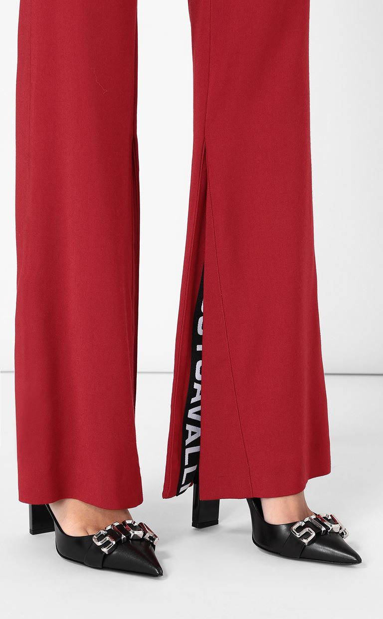 JUST CAVALLI Tailored trousers with logo tape Casual pants Woman e
