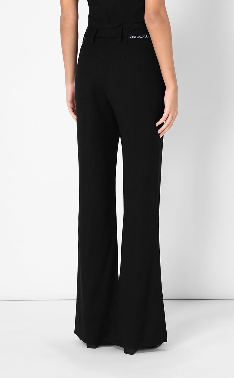JUST CAVALLI Tailored trousers with logo tape Casual pants Woman a