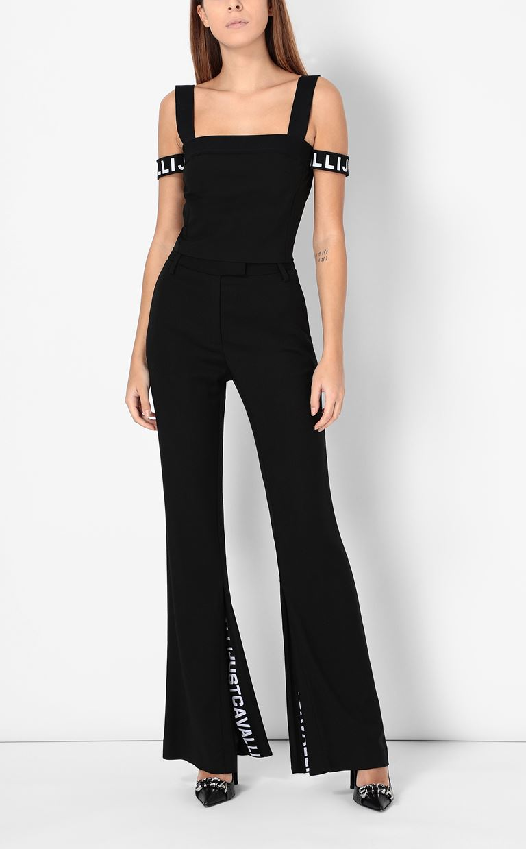 JUST CAVALLI Tailored trousers with logo tape Casual pants Woman d
