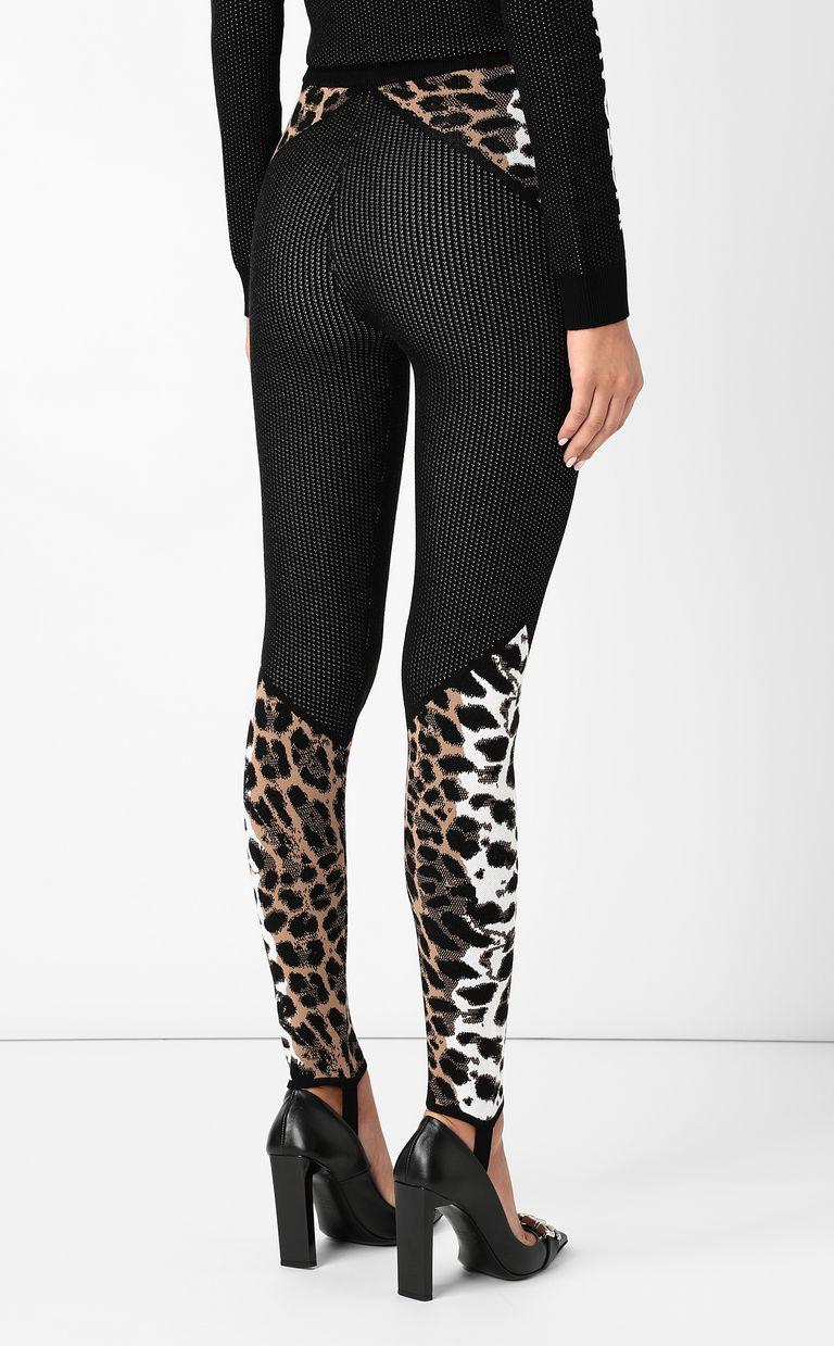 JUST CAVALLI Leggings with leopard-spot pattern Leggings Woman a