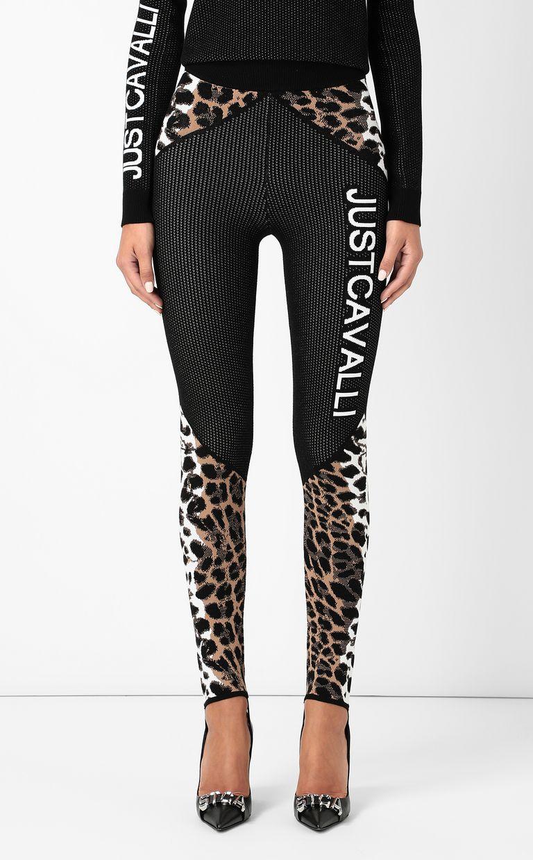 JUST CAVALLI Leggings with leopard-spot pattern Leggings Woman r