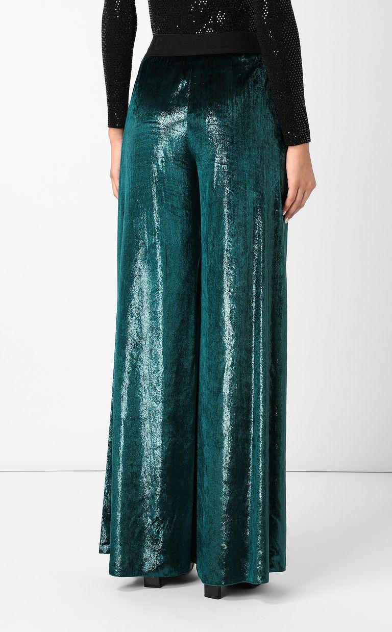 JUST CAVALLI Velvet palazzo pants Casual pants Woman a