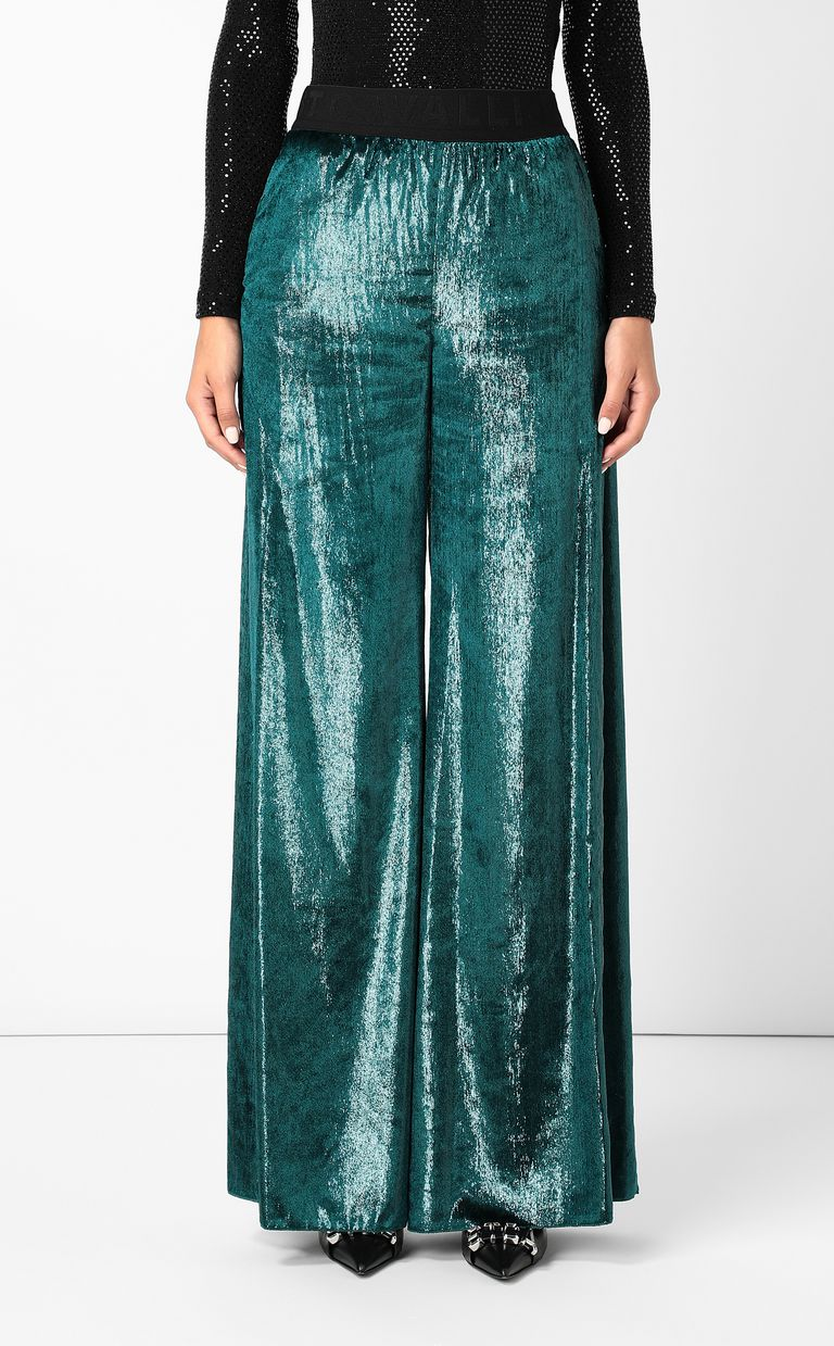 JUST CAVALLI Velvet palazzo pants Casual pants Woman r