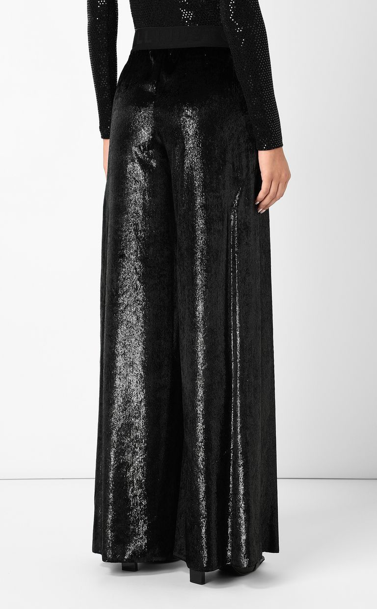 JUST CAVALLI Velvet palazzo pants Casual pants Woman a