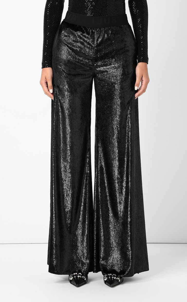 JUST CAVALLI Velvet palazzo pants Casual pants Woman r