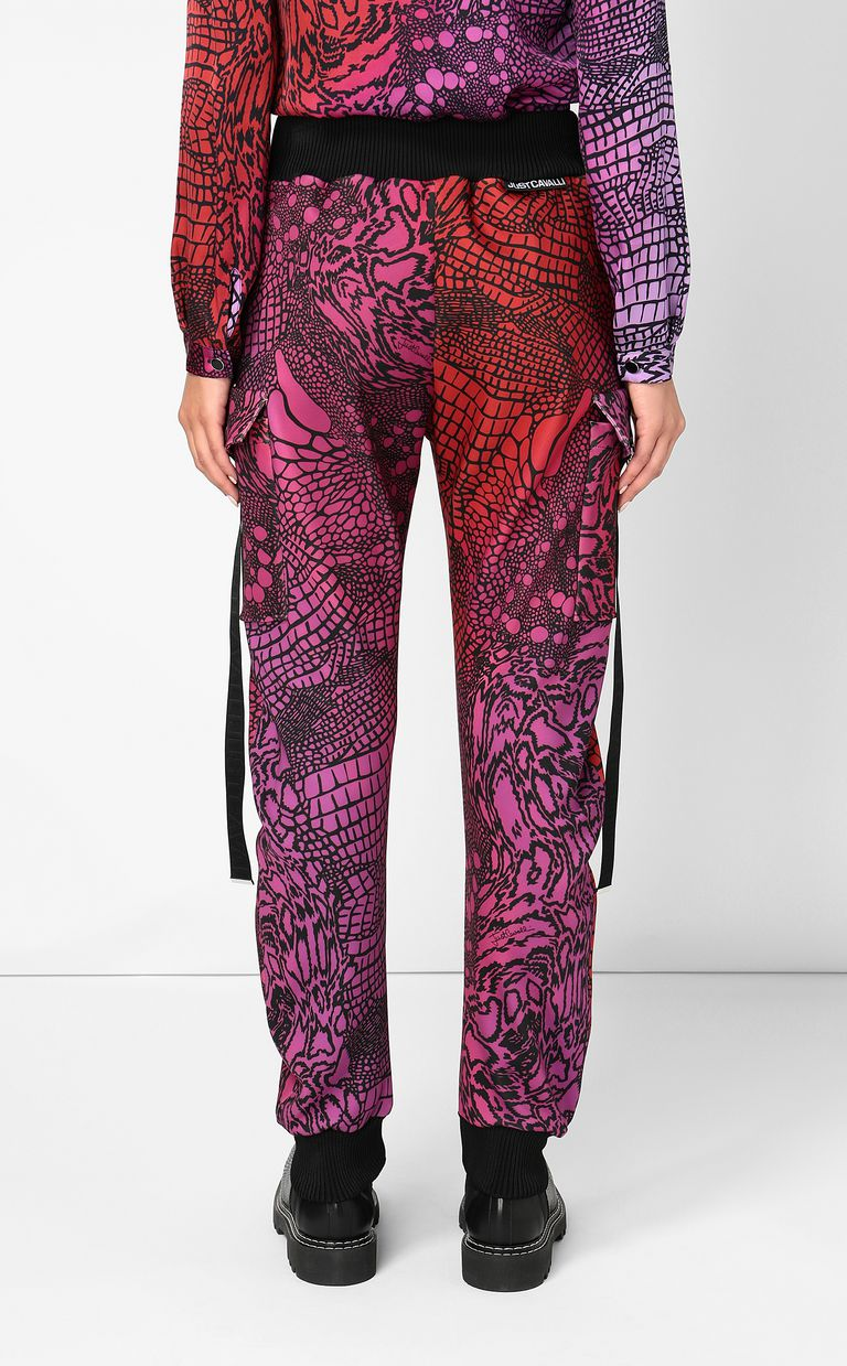 JUST CAVALLI Trousers with Reptilia print Casual pants Woman a