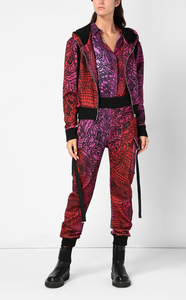 JUST CAVALLI Trousers with Reptilia print Casual pants Woman d