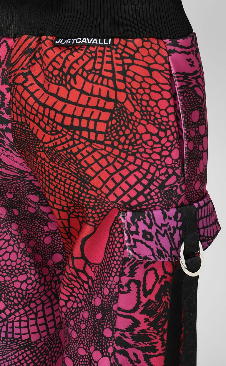 JUST CAVALLI Trousers with Reptilia print Casual pants Woman e