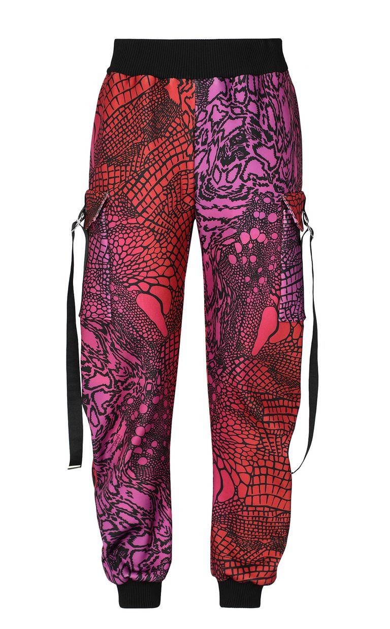 JUST CAVALLI Trousers with Reptilia print Casual pants Woman f