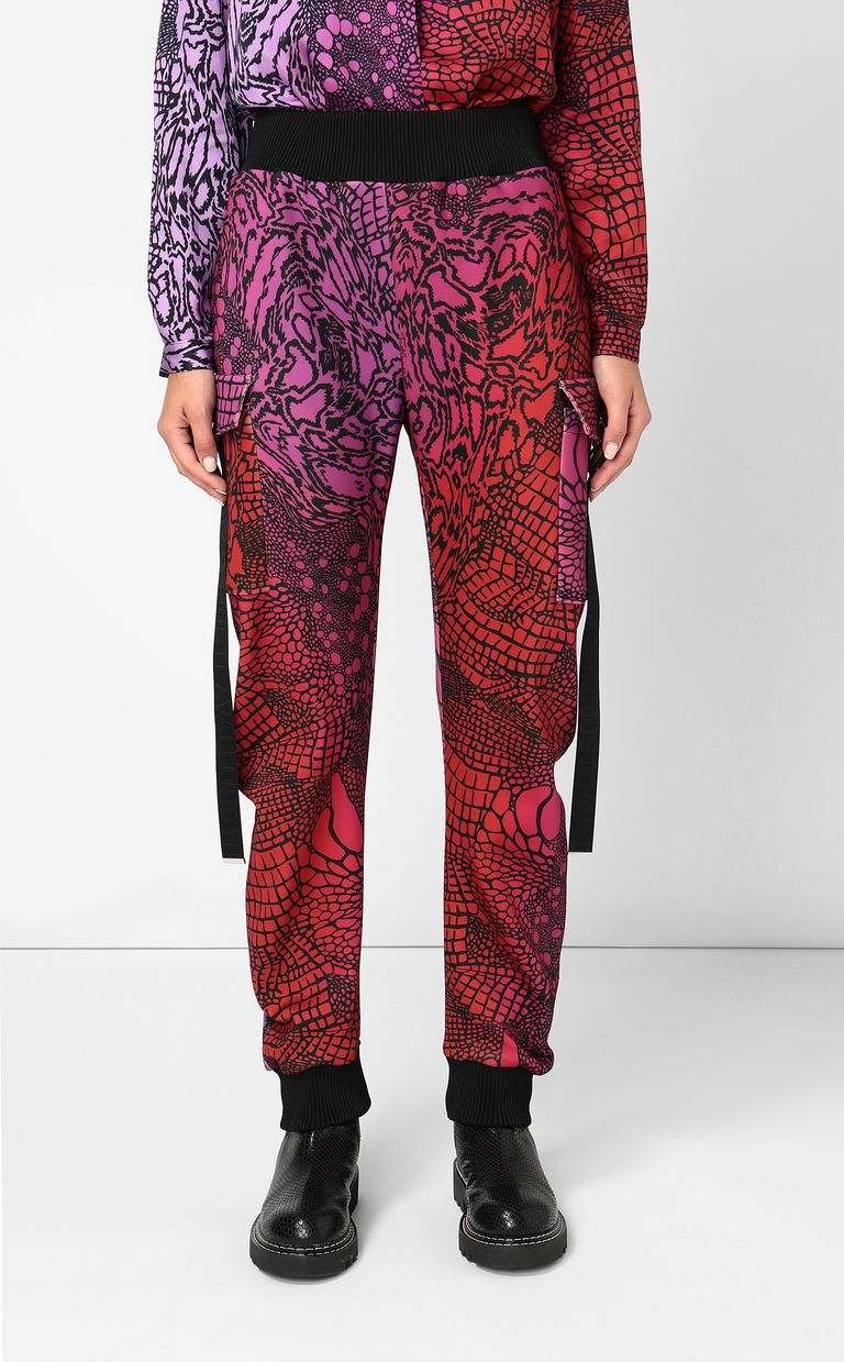 JUST CAVALLI Trousers with Reptilia print Casual pants Woman r