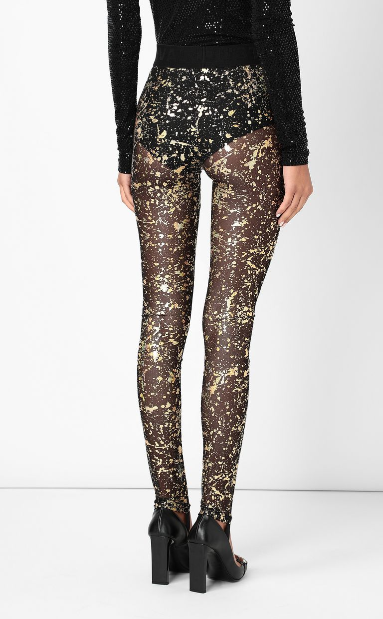 JUST CAVALLI Leggings with gold-tone detailing Leggings Woman a