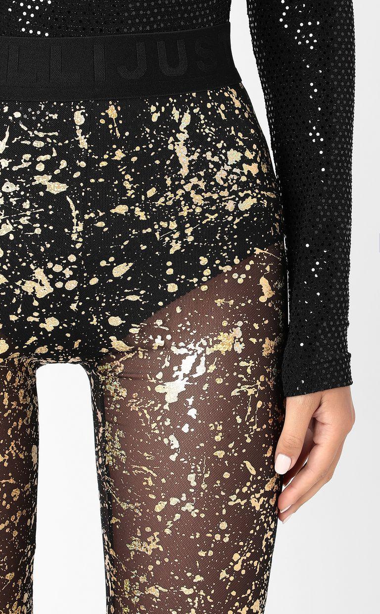 JUST CAVALLI Leggings with gold-tone detailing Leggings Woman e