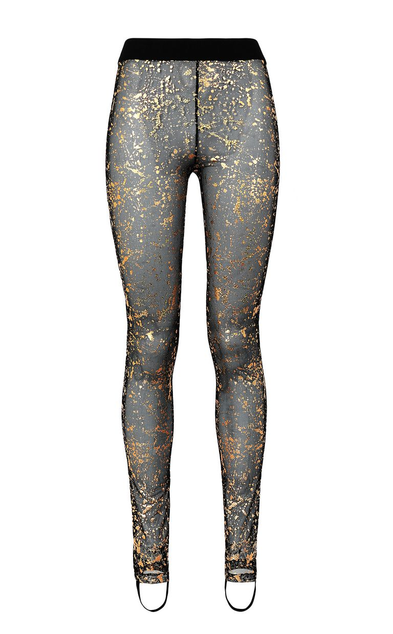 JUST CAVALLI Leggings with gold-tone detailing Leggings Woman f