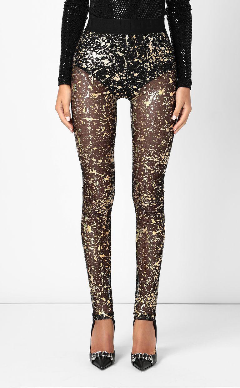 JUST CAVALLI Leggings with gold-tone detailing Leggings Woman r