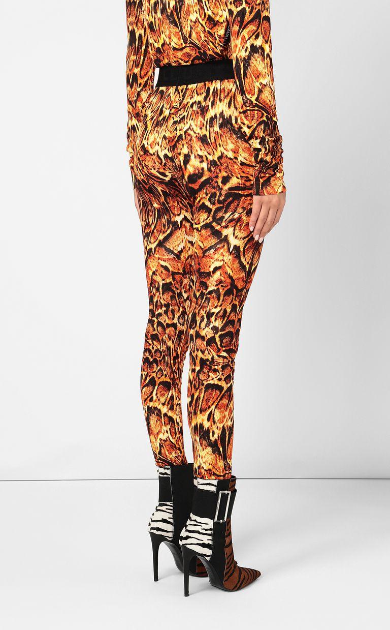 JUST CAVALLI Leggings with Siberian-Wolf print Leggings Woman a