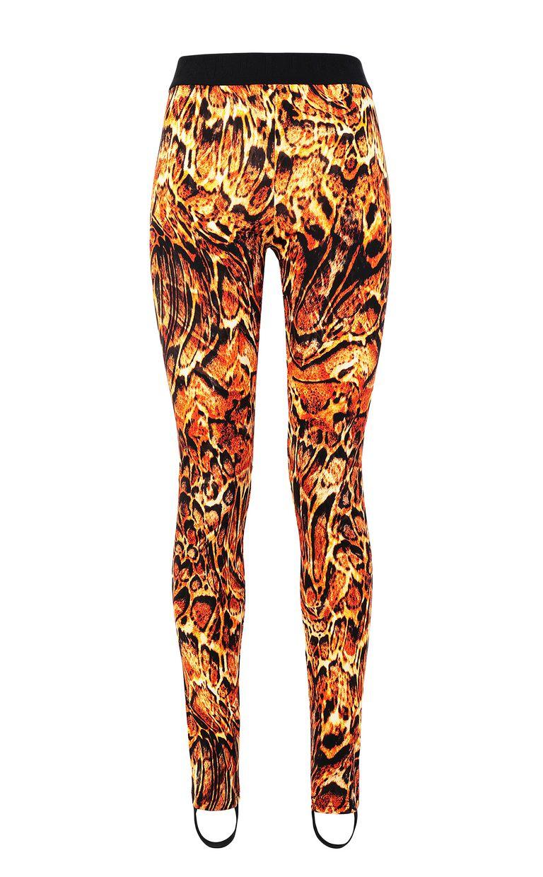 JUST CAVALLI Leggings with Siberian-Wolf print Leggings Woman f