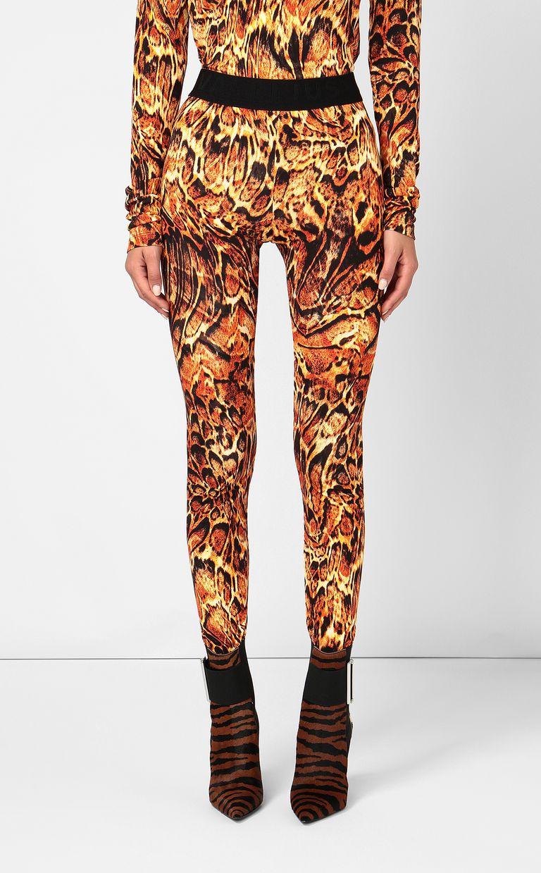 JUST CAVALLI Leggings with Siberian-Wolf print Leggings Woman r