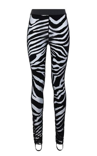 JUST CAVALLI Leggings Woman Leggings with zebra-stripe pattern f