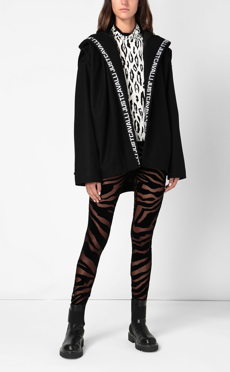 JUST CAVALLI Leggings with zebra-stripe pattern Leggings Woman d