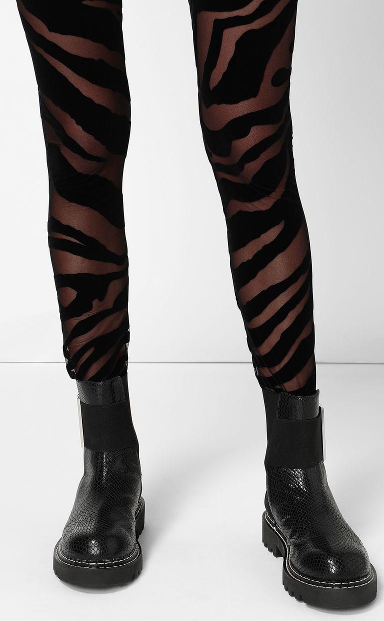 JUST CAVALLI Leggings with zebra-stripe pattern Leggings Woman e