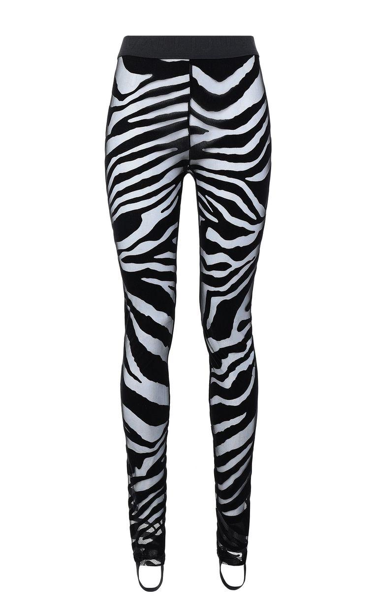 JUST CAVALLI Leggings with zebra-stripe pattern Leggings Woman f