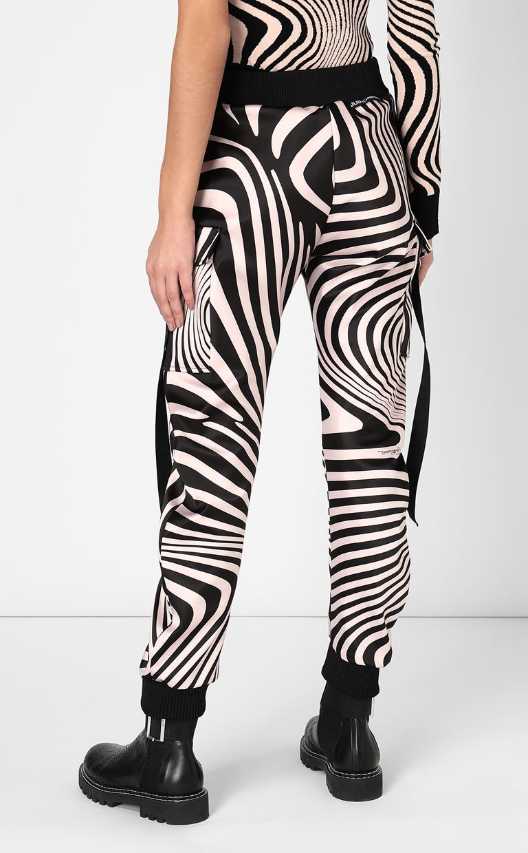 JUST CAVALLI Trousers with Zebra-Waves print Casual pants Woman a