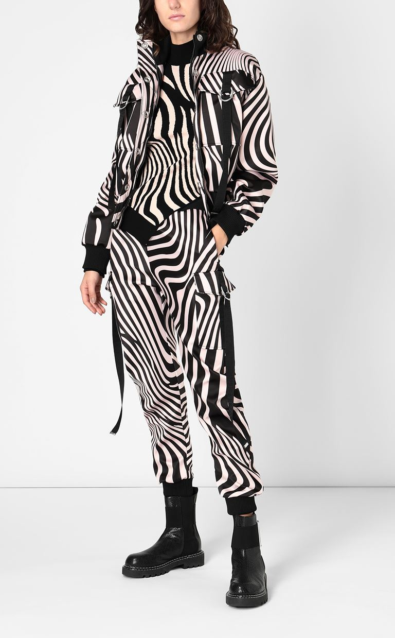 JUST CAVALLI Trousers with Zebra-Waves print Casual pants Woman d