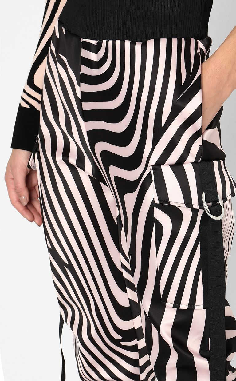 JUST CAVALLI Trousers with Zebra-Waves print Casual pants Woman e